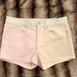 GAP Color Block Pastel Slim Shorts